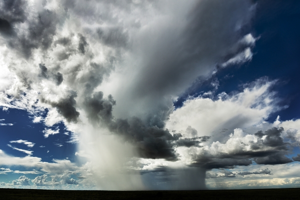 Isolated Thunderstorms Near Derby