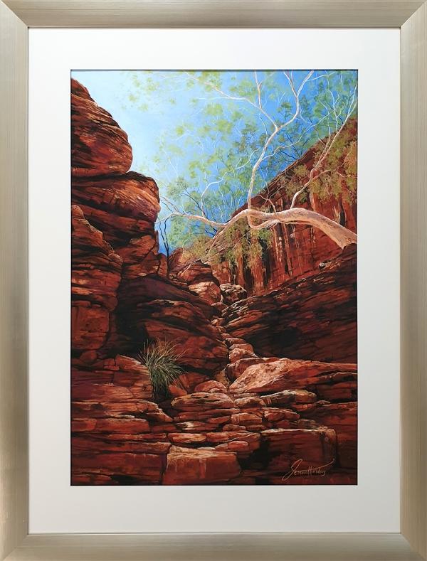 Jessica Holliday - 'Sun Soaked Cascade' Framed