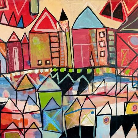 Karin Hotchkin - 'Festive-Village'