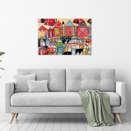 Karin Hotchkin - 'Festive-Village' in a room