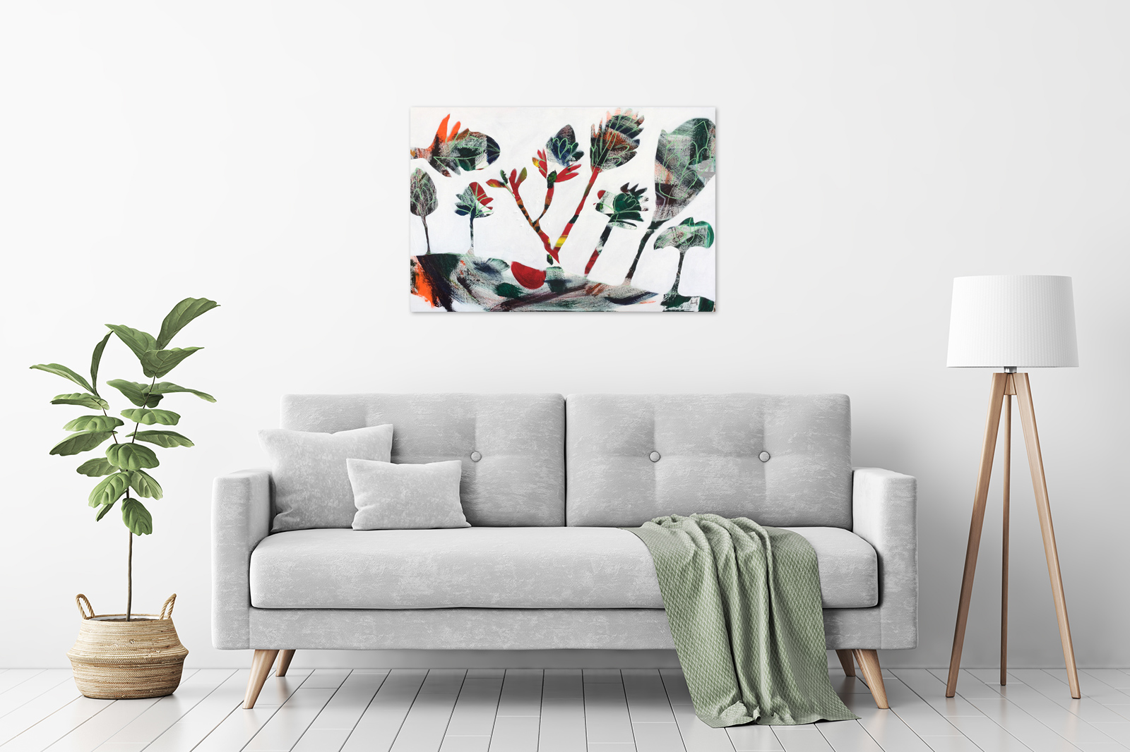 Karin Hotchkin - 'Proteas' in a room