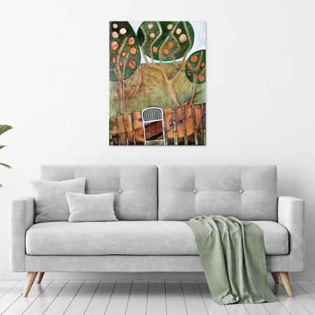 Karin Hotchkin - 'Orange-Orchard' in a room