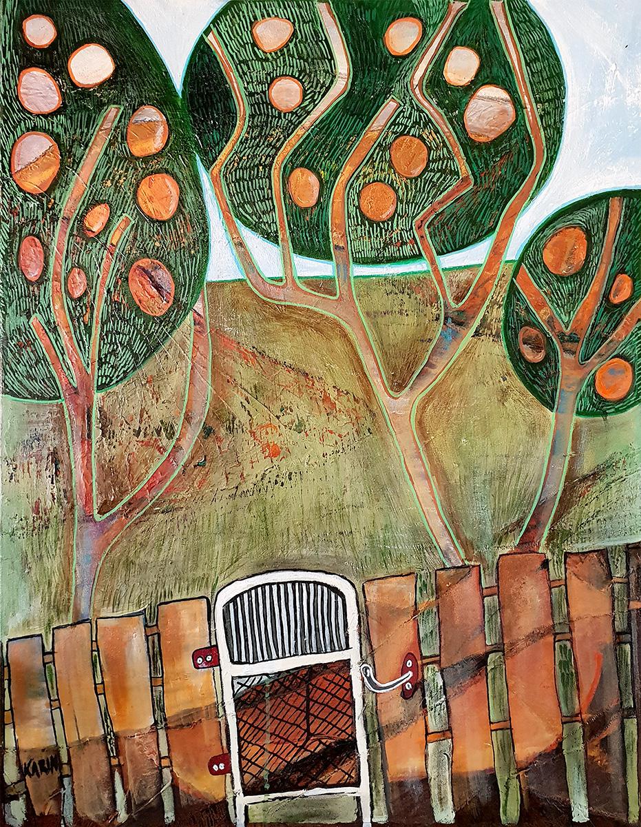 Karin Hotchkin - 'Orange-Orchard'