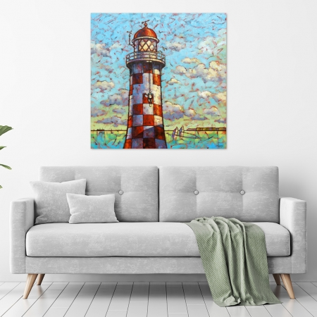Malcolm Lindsay - 'Antipodean Lighthouse Blues' in a room