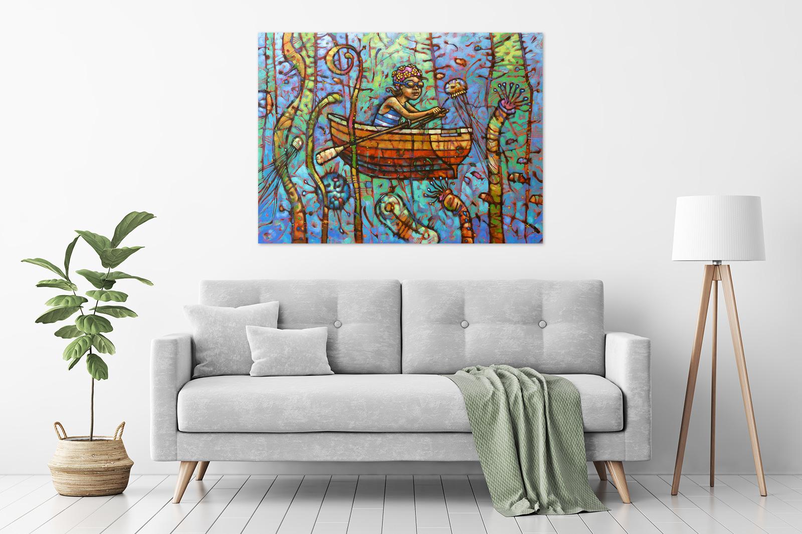 Malcolm Lindsay - 'Sub-Marine Dream' in a room