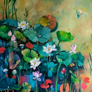 The Water Lily Pond by Susan Trudinger