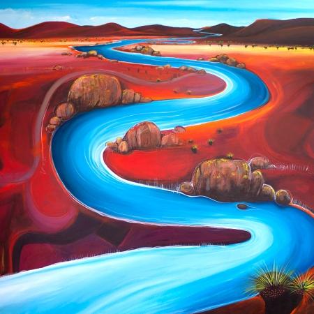 Tania Chanter - 'Meandering River Plain'