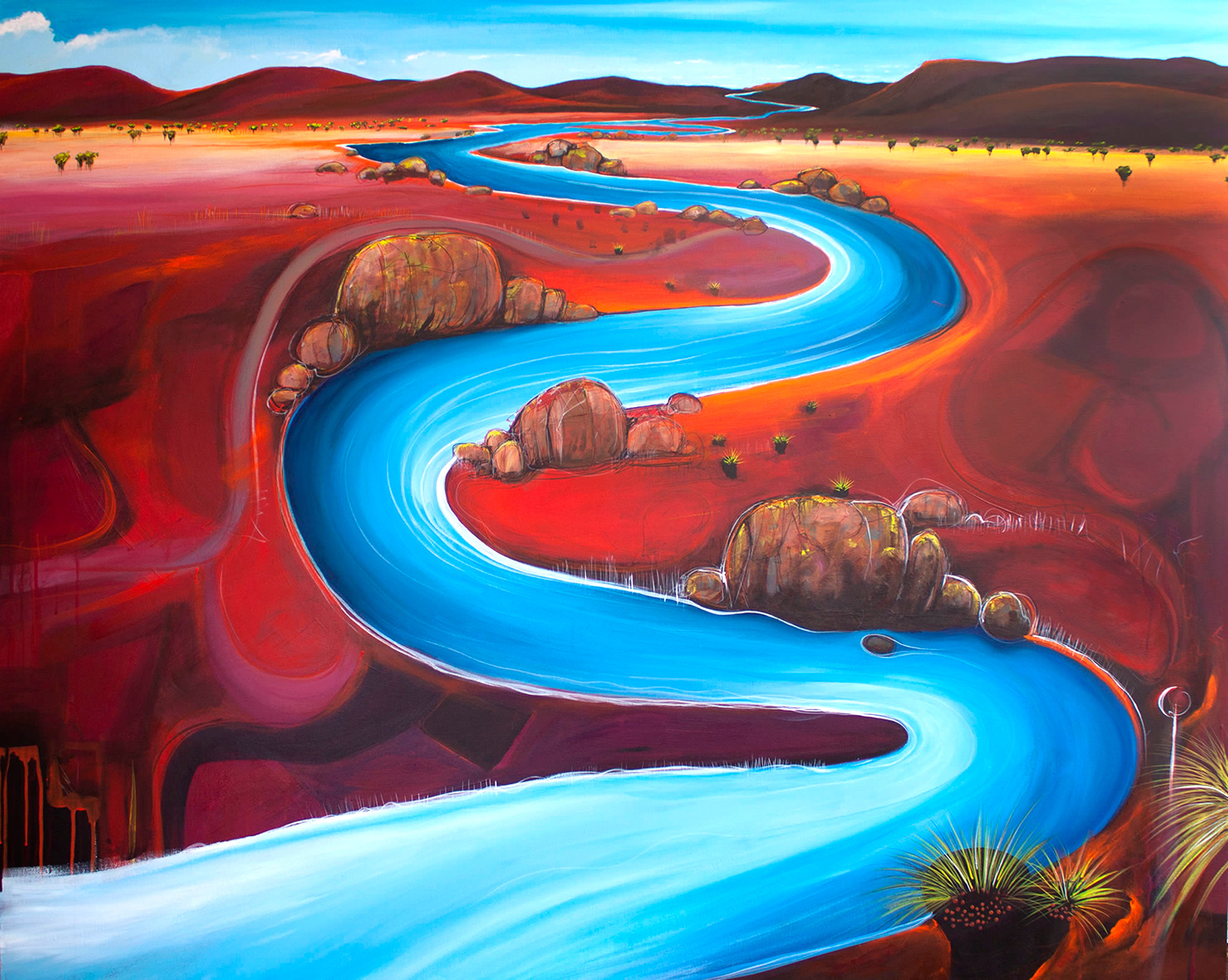 Tania Chanter - 'Meandering River Plain'
