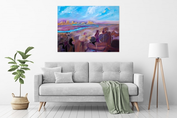 Tania Chanter - 'Meandering Sunset' in a room