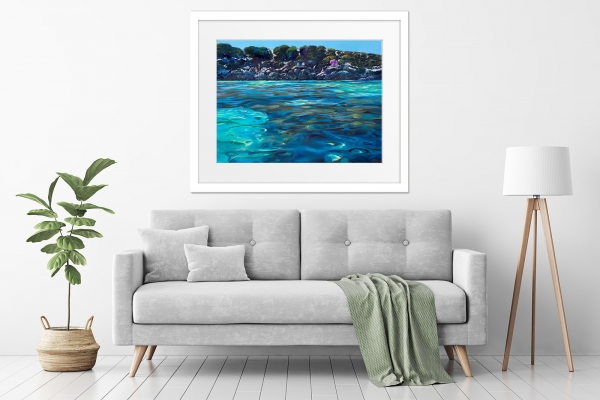 Greg Baker - 'The Lagoon, Little Salmon Bay' in a room