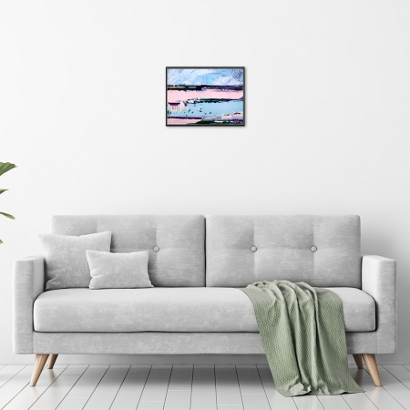 Hilly Coufreur - 'Ocean Breeze II' in a room