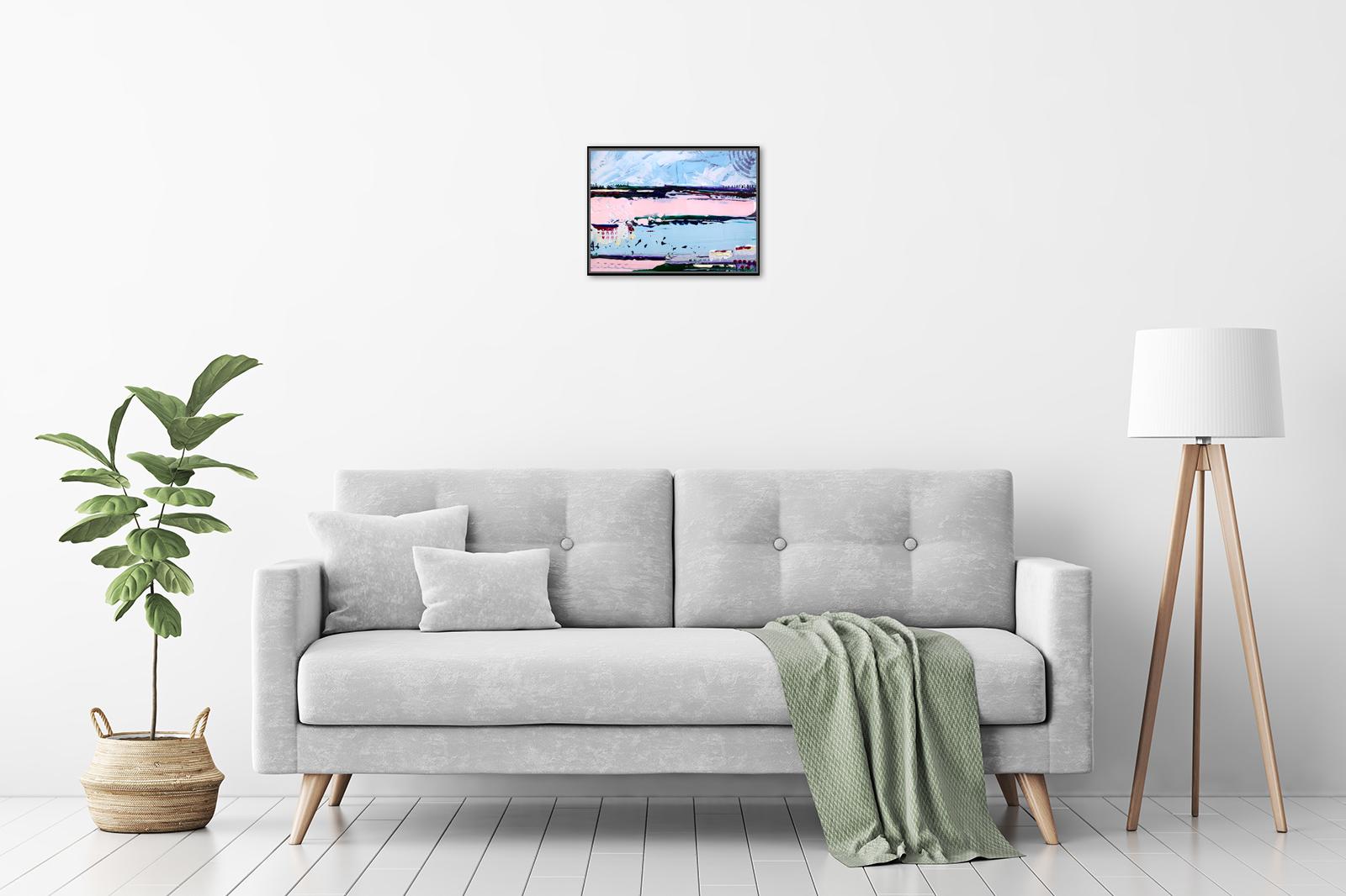 Hilly Coufreur - 'Ocean Breeze II' in a room