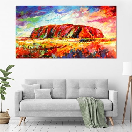 Jos Coufreur - 'Uluru, Central Australia' in a room