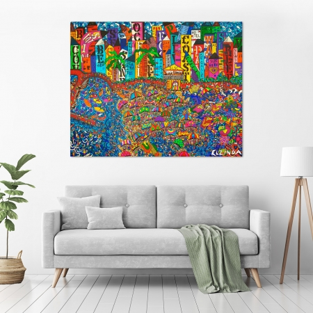 Karen Elzinga - 'City By The Bay' in a room