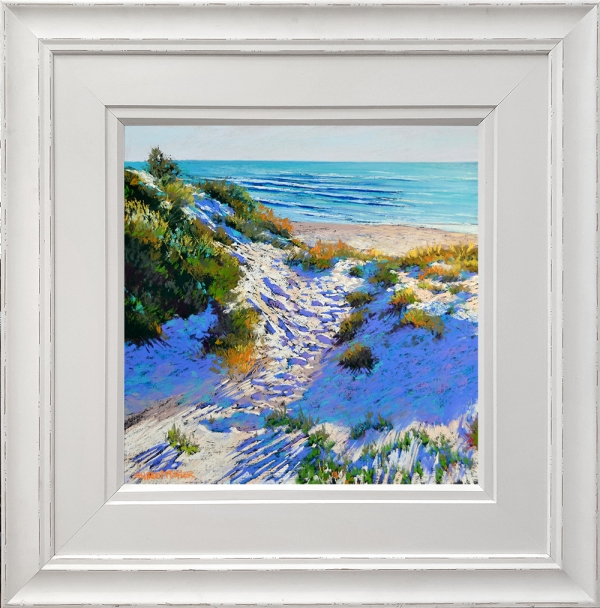 Shirley Fisher - 'Autumn Beach' Framed
