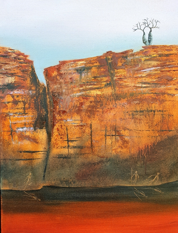 Suzy French - 'Boab Cliff 2'