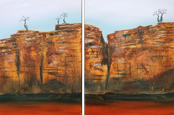 Suzy French - 'Boab Cliff Diptych'