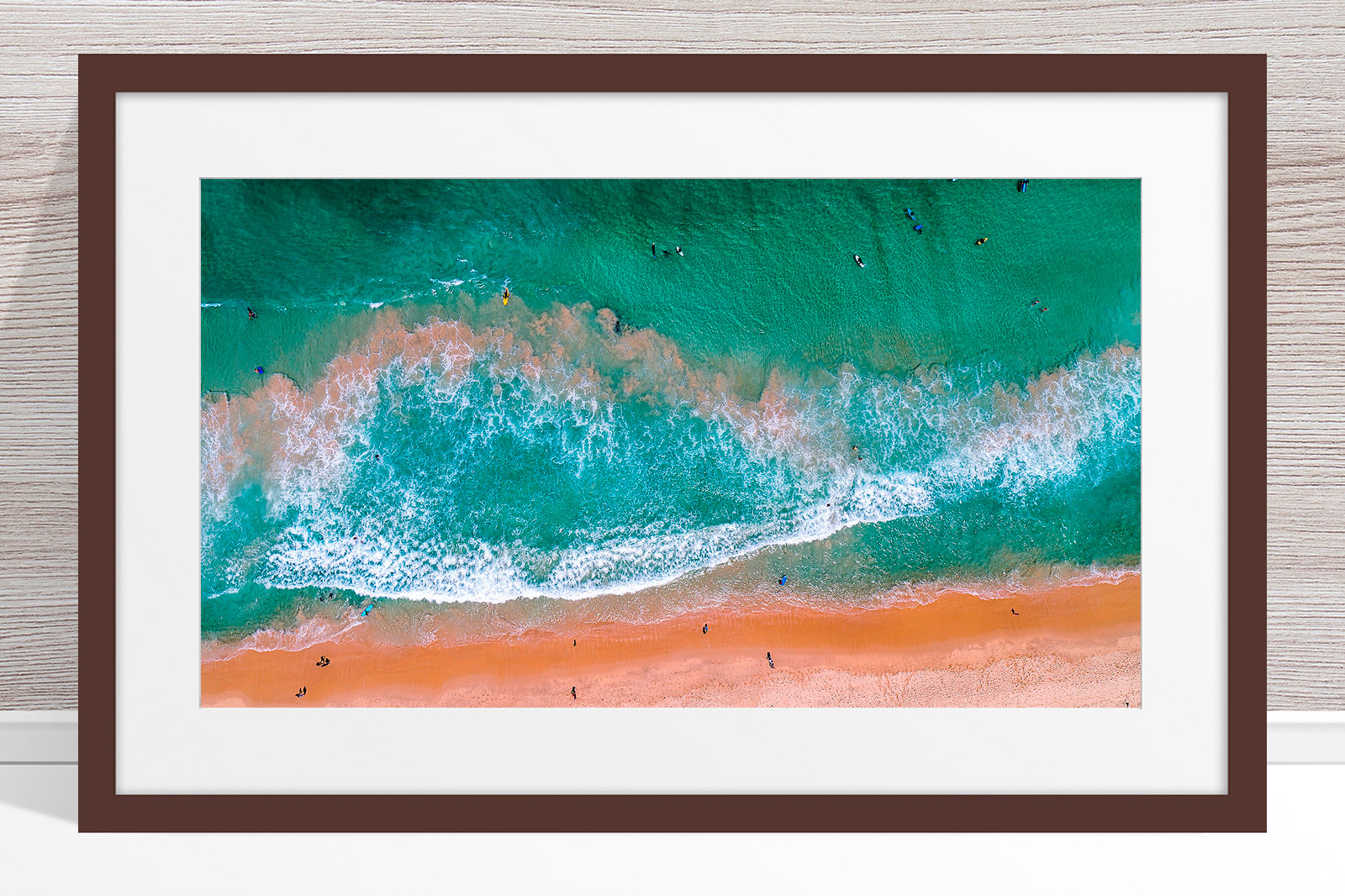 001 - Jason Mazur - 'Scarborough Beach Aerial' Dark Frame