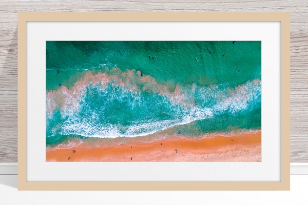 001 - Jason Mazur - 'Scarborough Beach Aerial' Light Frame