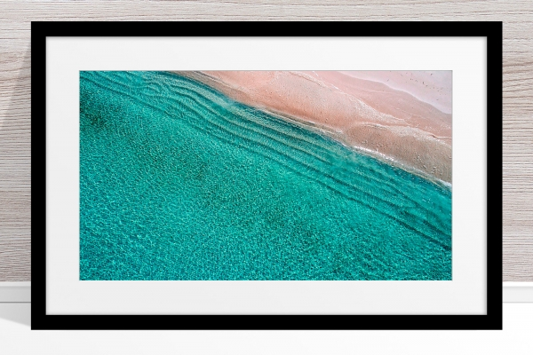 002 - Jason Mazur - 'Scarborough Beach Aerial' Black Frame