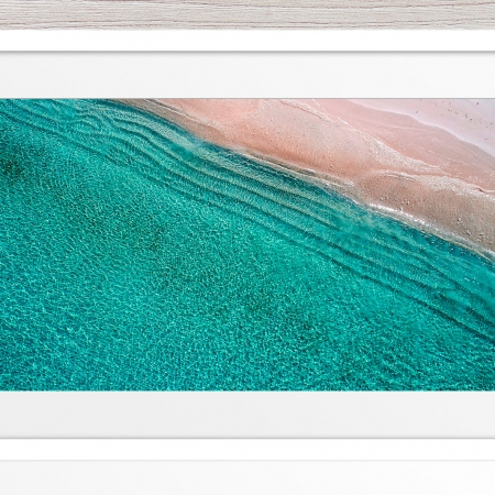 002 - Jason Mazur - 'Scarborough Beach Aerial' White Frame