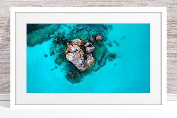 011 - Jason Mazur - 'Gannet Rock, Dunsborough' White Frame