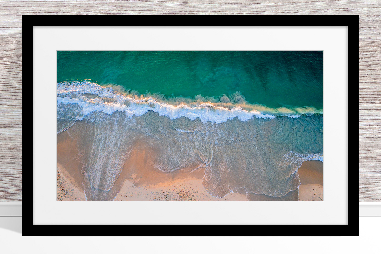 014 - Jason Mazur - 'City Beach Aerial' Black Frame