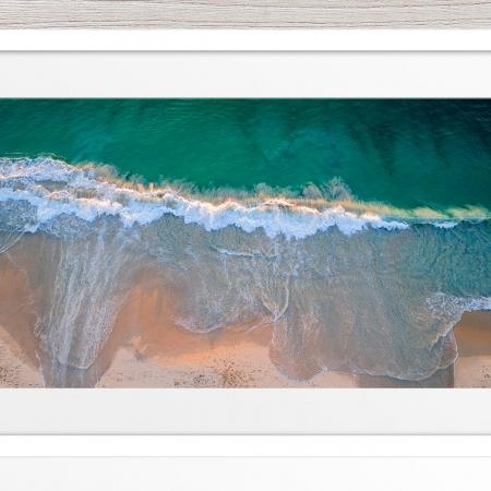 014 - Jason Mazur - 'City Beach Aerial' White Frame
