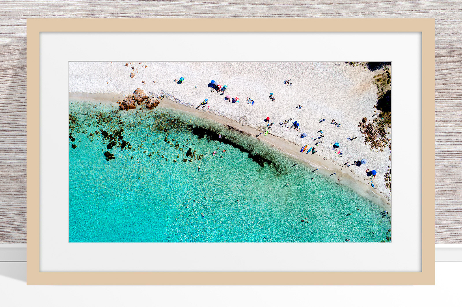 015 - Jason Mazur - 'Castle Bay Beach, Dunsborough' Light Frame