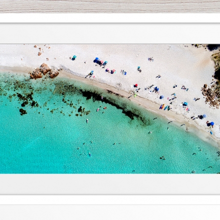 015 - Jason Mazur - 'Castle Bay Beach, Dunsborough' White Frame