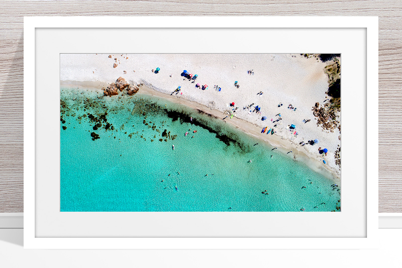 015 - Jason Mazur - 'Castle Bay Beach, Dunsborough' White Frame