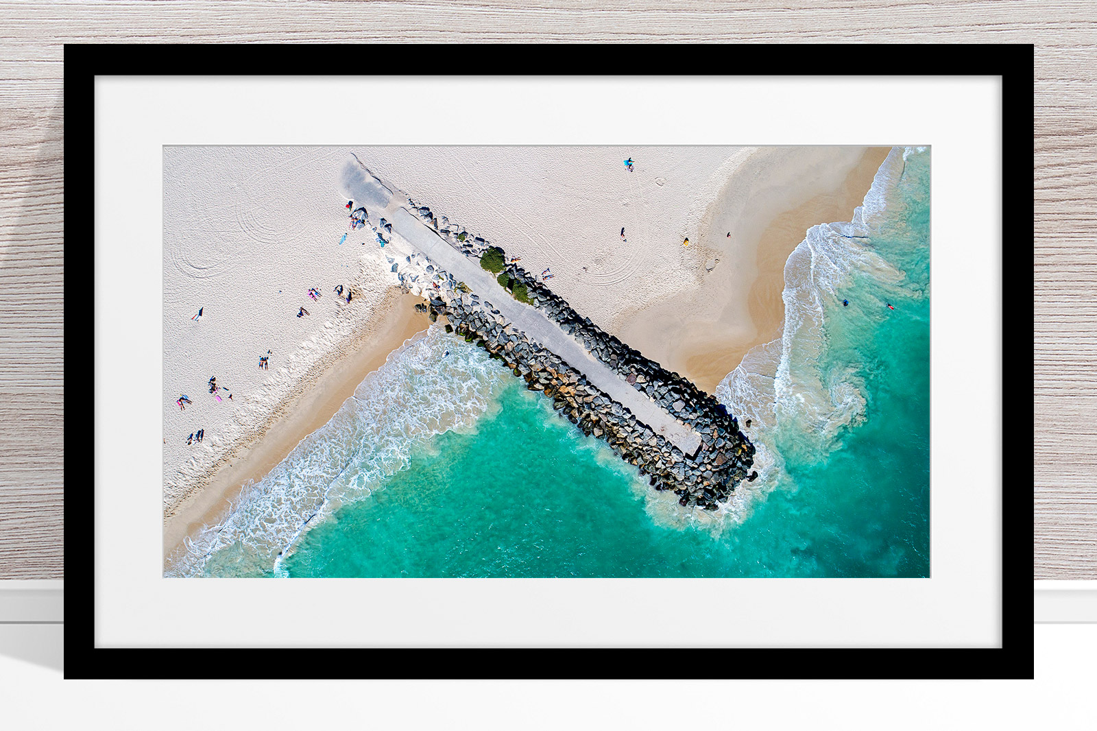 021 - Jason Mazur - 'City Beach Groyne' Black Frame
