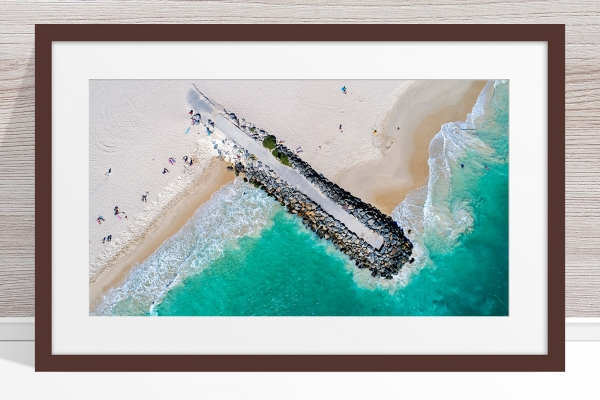 021 - Jason Mazur - 'City Beach Groyne' Dark Frame
