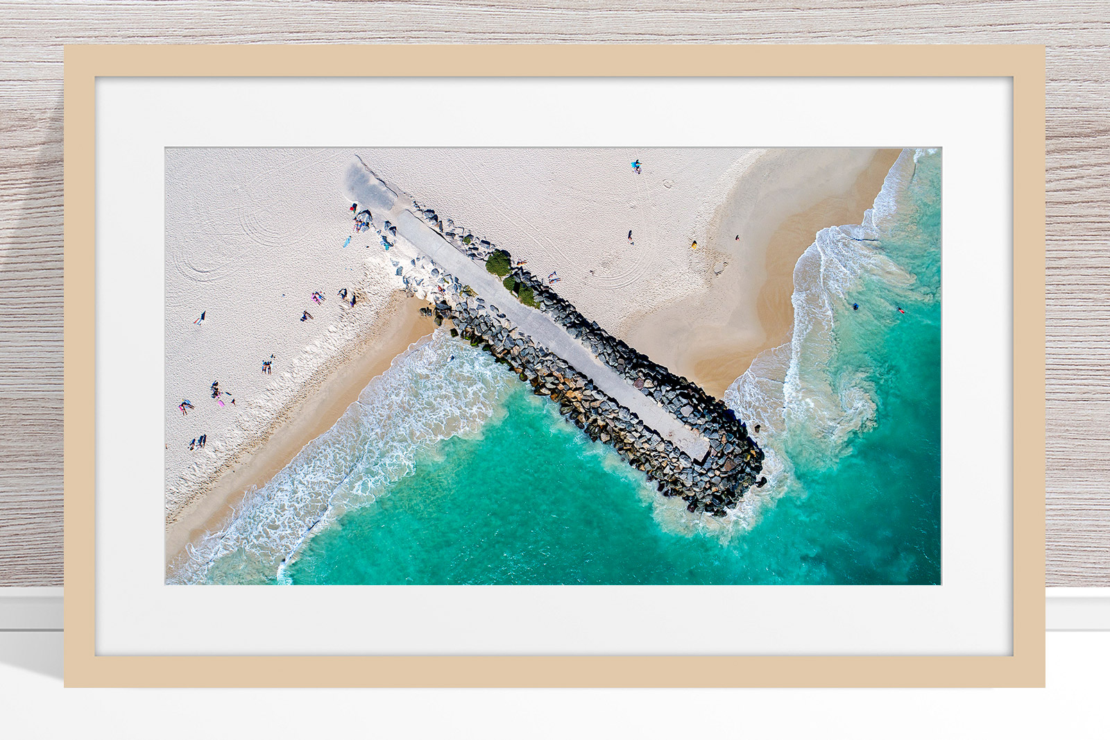 021 - Jason Mazur - 'City Beach Groyne' Light Frame