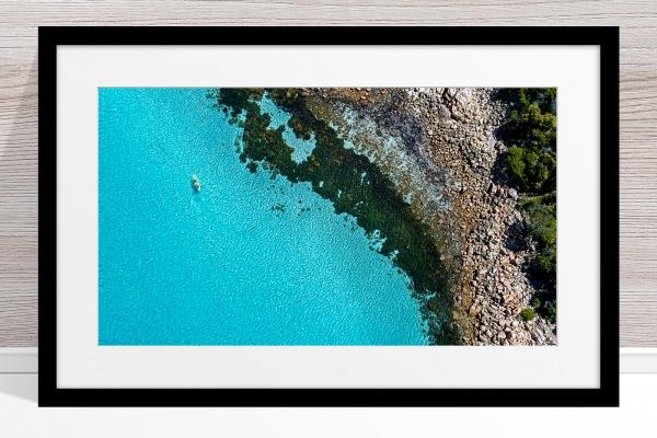025 - Jason Mazur - 'Kayaker, Geographe Bay, Dunsborough' Black Frame