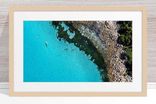 025 - Jason Mazur - 'Kayaker, Geographe Bay, Dunsborough' Light Frame