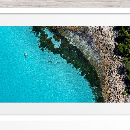 025 - Jason Mazur - 'Kayaker, Geographe Bay, Dunsborough' White Frame