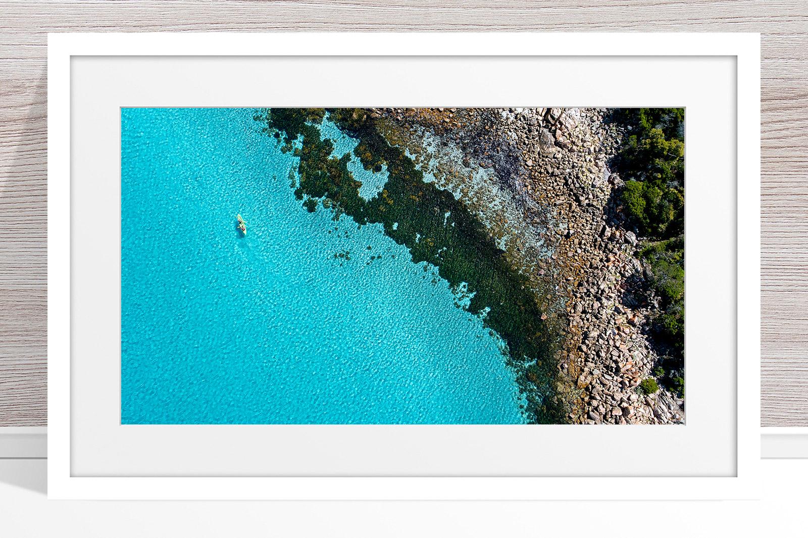 025 - Jason Mazur - 'Kayaker, Geographe Bay, Dunsborough' White Frame