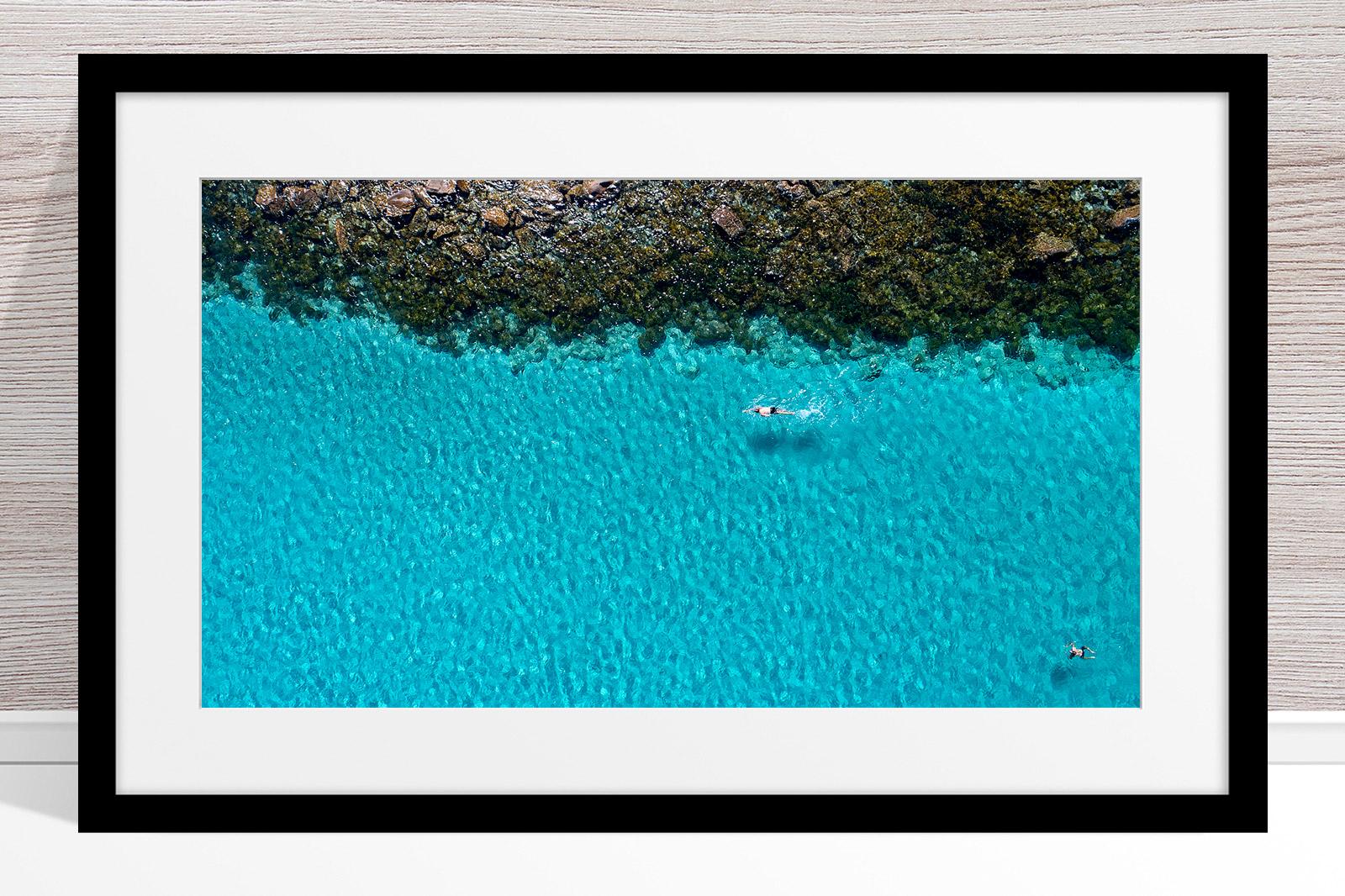 026 - Jason Mazur - 'Swimmers, Geographe Bay, Dunsborough' Black Frame