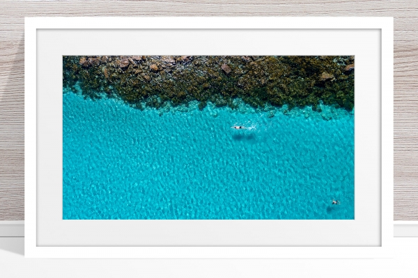 026 - Jason Mazur - 'Swimmers, Geographe Bay, Dunsborough' White Frame