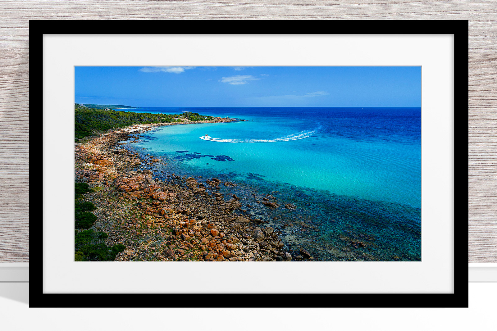 027 - Jason Mazur - 'Meelup Coastline, Dunsborough' Black Frame