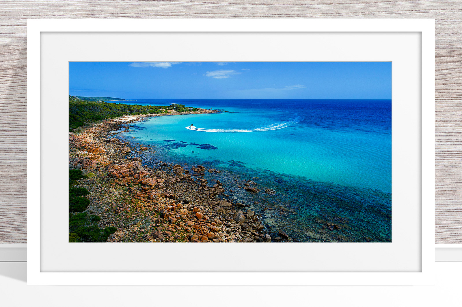 027 - Jason Mazur - 'Meelup Coastline, Dunsborough' White Frame