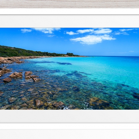028 - Jason Mazur - 'Meelup Coastline, Dunsborough' White Frame