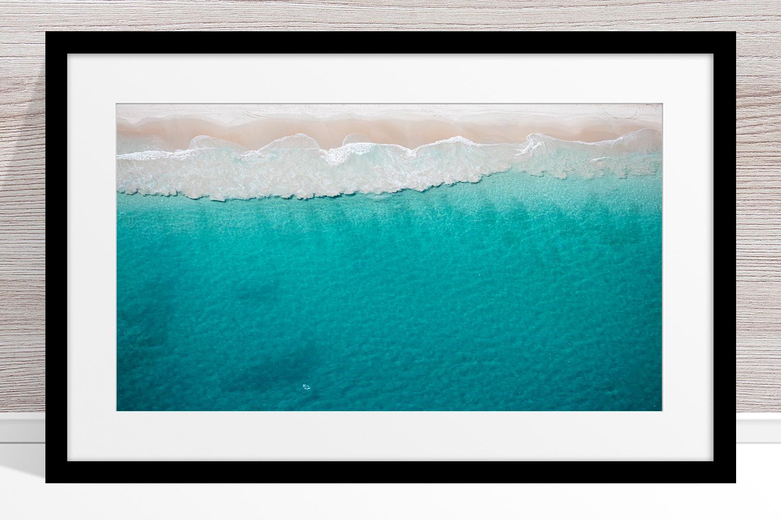 034 - Jason Mazur - 'North Beach Aerial' Black Frame