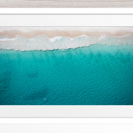 034 - Jason Mazur - 'North Beach Aerial' White Frame