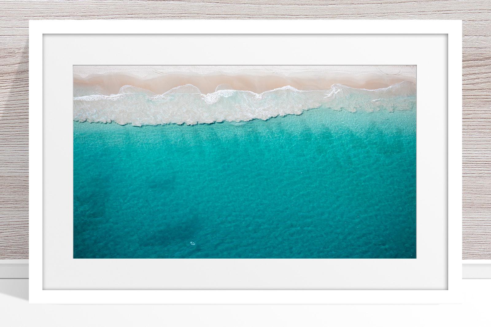 034 - Jason Mazur - 'North Beach Aerial' White Frame