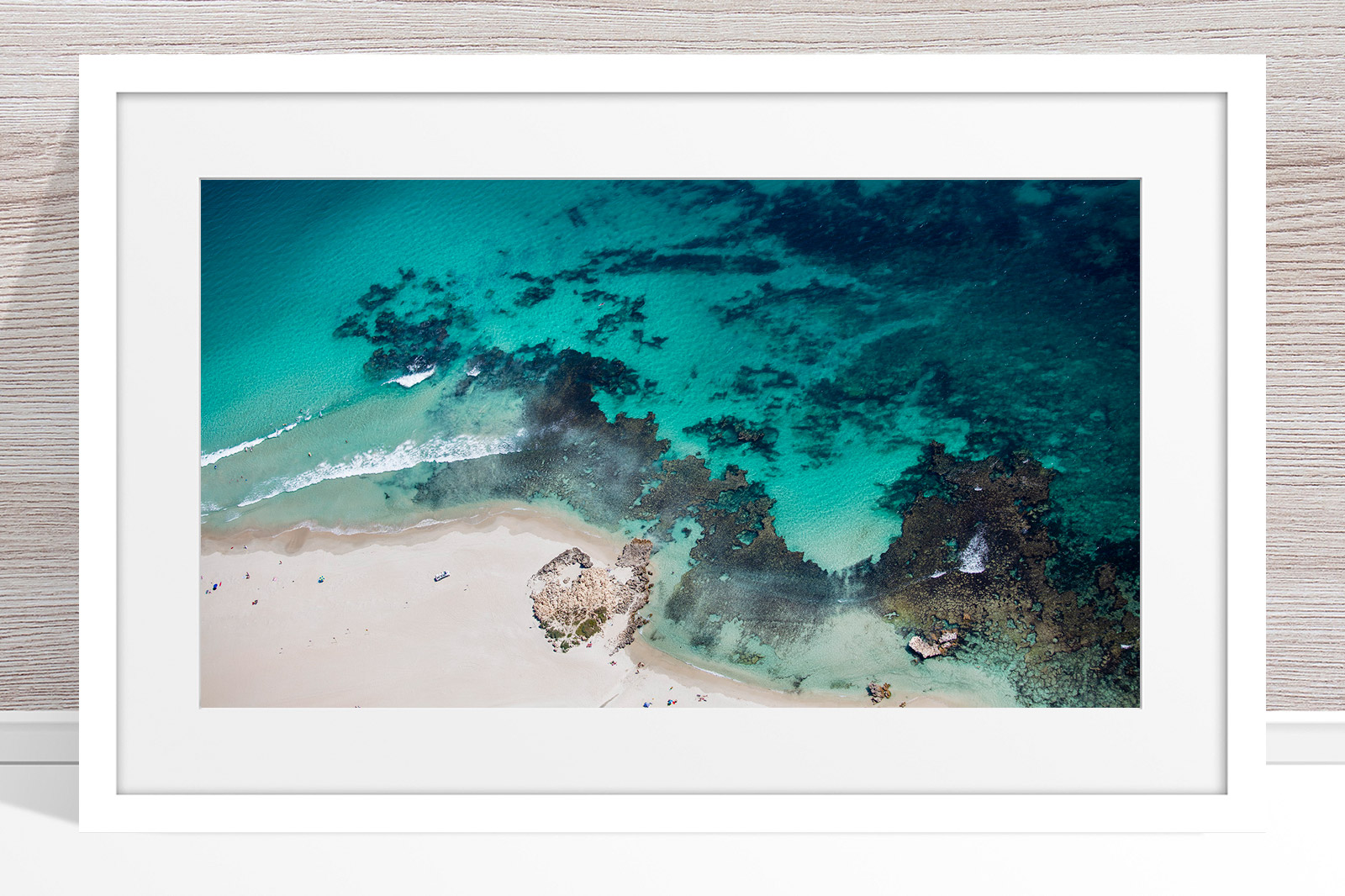 039 - Jason Mazur - 'Trigg Point Aerial' White Frame
