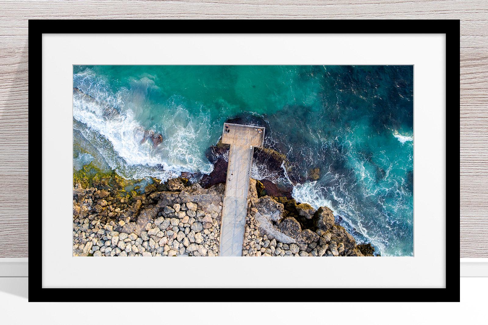 057 - Jason Mazur - 'North Beach Jetty' Black Frame