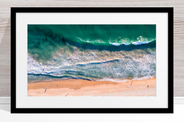 080 - Jason Mazur - 'Scarborough Beach Aerial' Black Frame