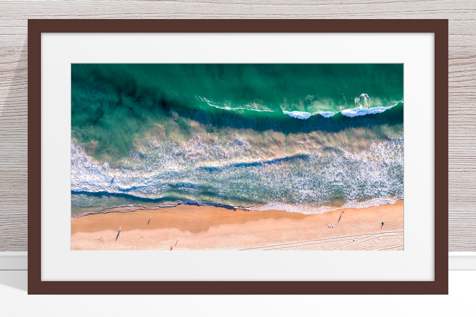 080 - Jason Mazur - 'Scarborough Beach Aerial' Dark Frame